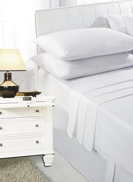 2ft 6 Small Single Bed Bunk Bed Fitted Sheet White By Maria