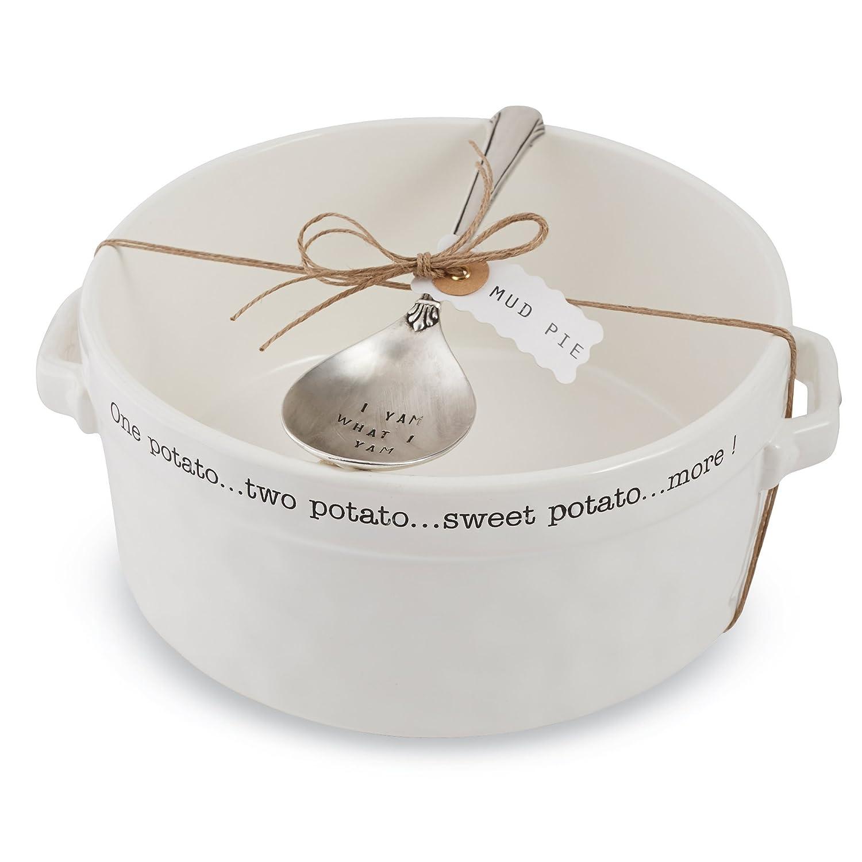 Mud Pie Souffle Set, White 4801007