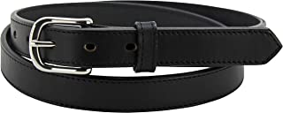 """product image for Men's Leather Belt – Stitched Adjustable Premium Belts - Made in USA - 1"""" Wide"""