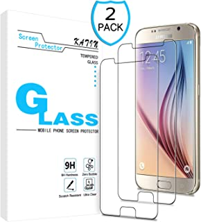 KATIN Galaxy S6 Screen Protector - [2-Pack] for Samsung Galaxy S6 Tempered Glass Screen Protector Bubble free, Easy to Install with Lifetime Replacement Warranty