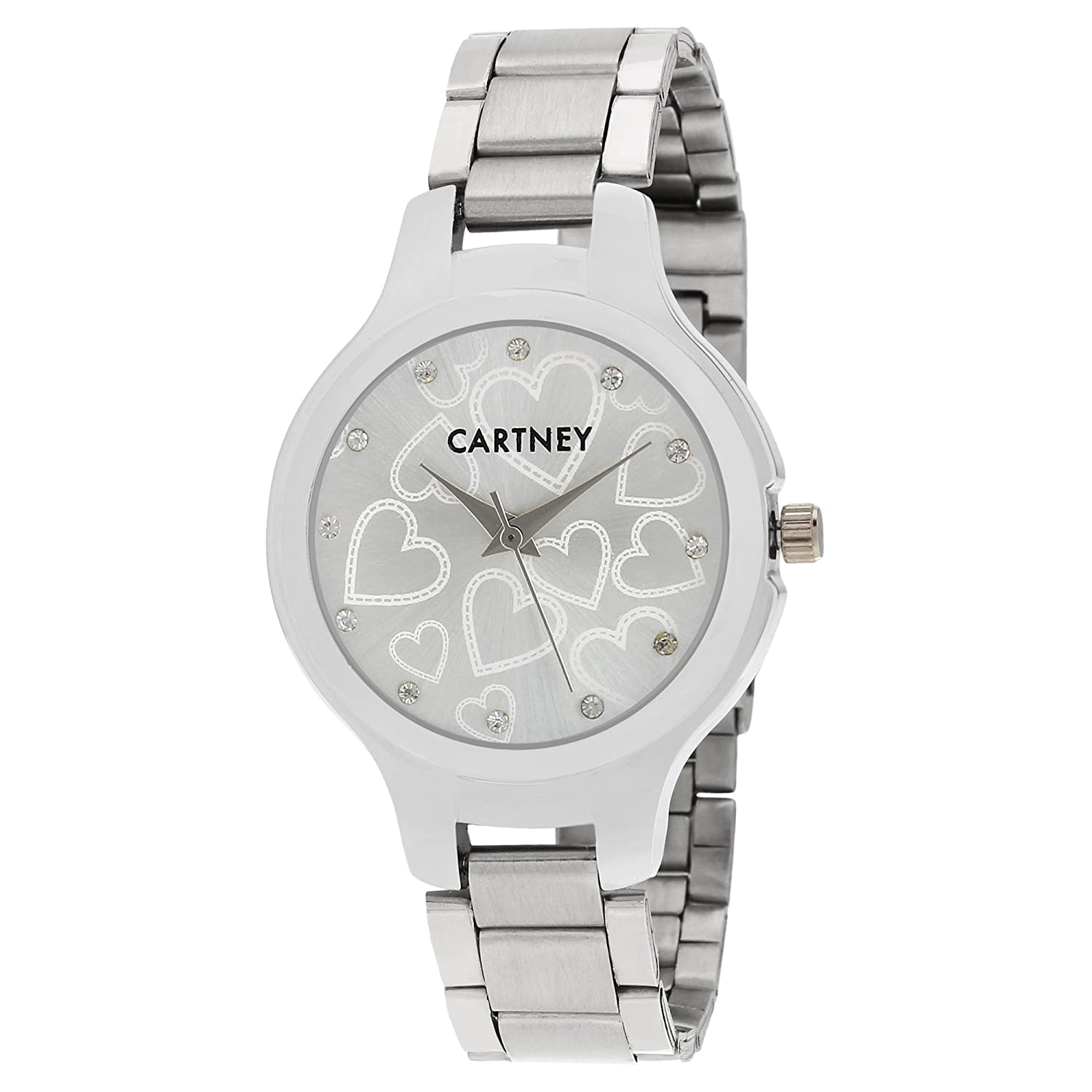CARTNEY Heart Dial Analogue Watch Round Shape For Women & Girl's - CH44