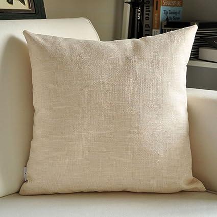 Almohadas de lino, cojines grandes, sofá de la oficina ...