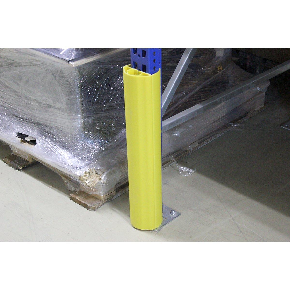 zum Aufstecken H/öhe 400 mm f/ür Regalbeinbreite 100 Regalanfahrschutz 125 mm