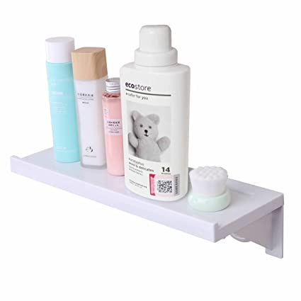 Easy & Eco Life Suction Cup Floating Shelf Bathroom Shower Rack ...