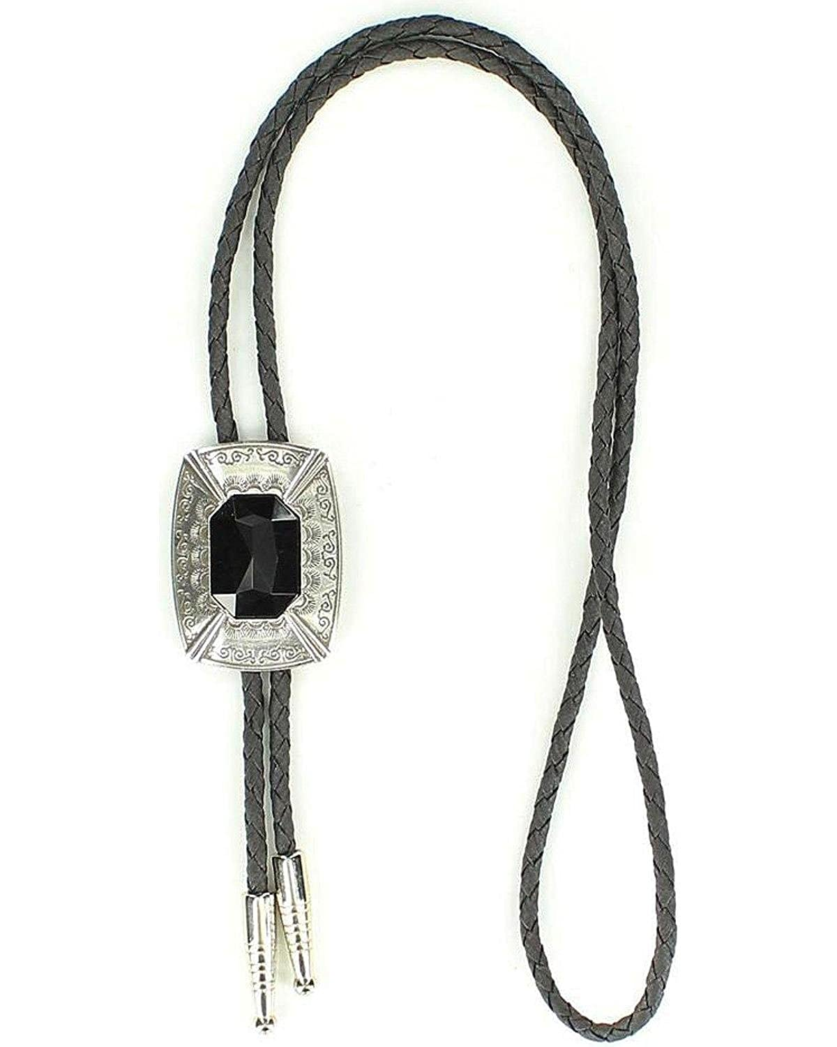 M & F Western Men's Rectangle Bolo Tie Silver One Size 22868