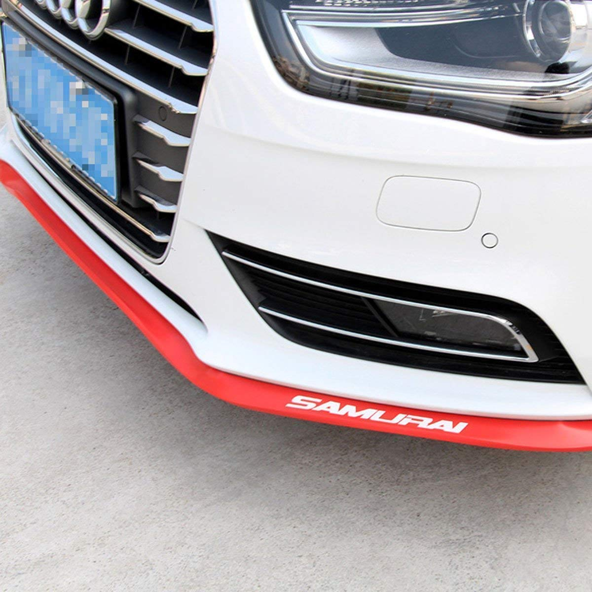 Front Lip ,HengJia Auto Parts 2.5m/8.2ft Car carbon fiber front lip,Front Bumper Lip ,Carbon Lip ,Side Skirt, front lip spoiler 100% waterproof protection( Red)
