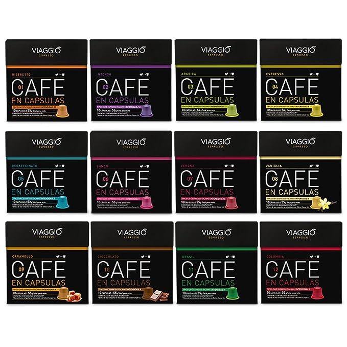 VIAGGIO ESPRESSO - 120 Cápsulas de Café Compatibles con Máquinas Nespresso - GRAN COLECCIÓN