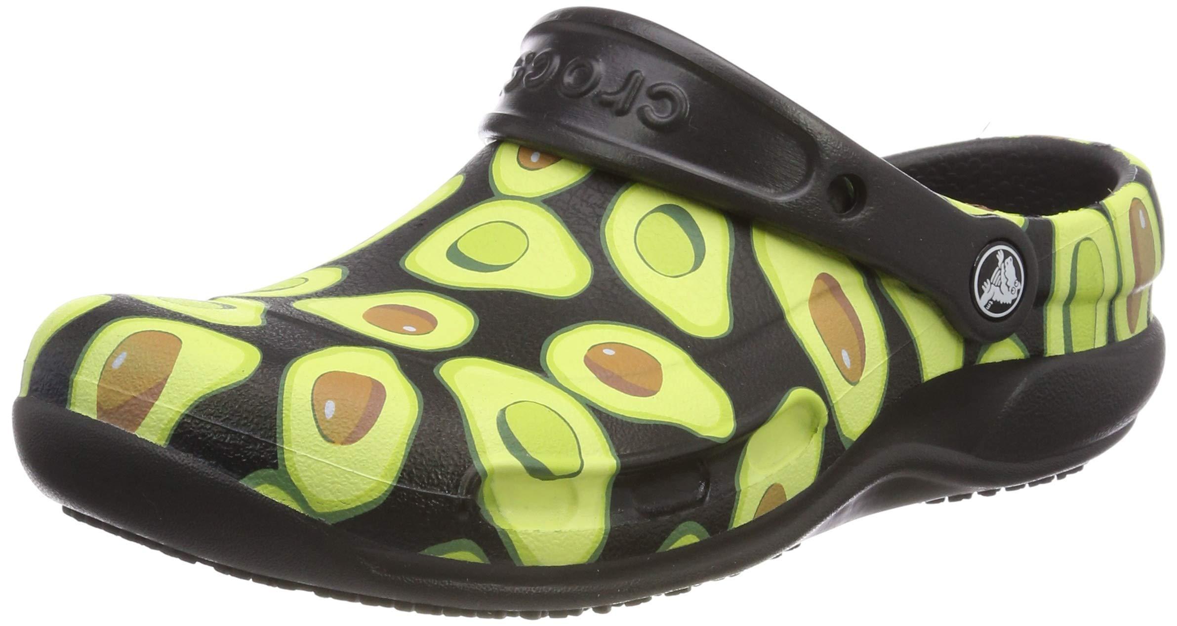 Crocs Men's and Women's Bistro Graphic Clog | Slip Resistant Work Shoe | Great Nursing or Chef Shoe