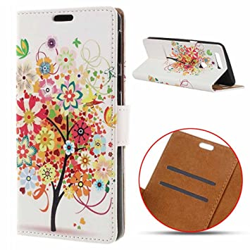 msk Huawei P Smart Funda, Cartera de Piel sintética Carcasa Bolsillo con Flip Plegable Protectora Case para Huawei P Smart/Huawei Enjoy 7S (5,65 Pulgadas): ...