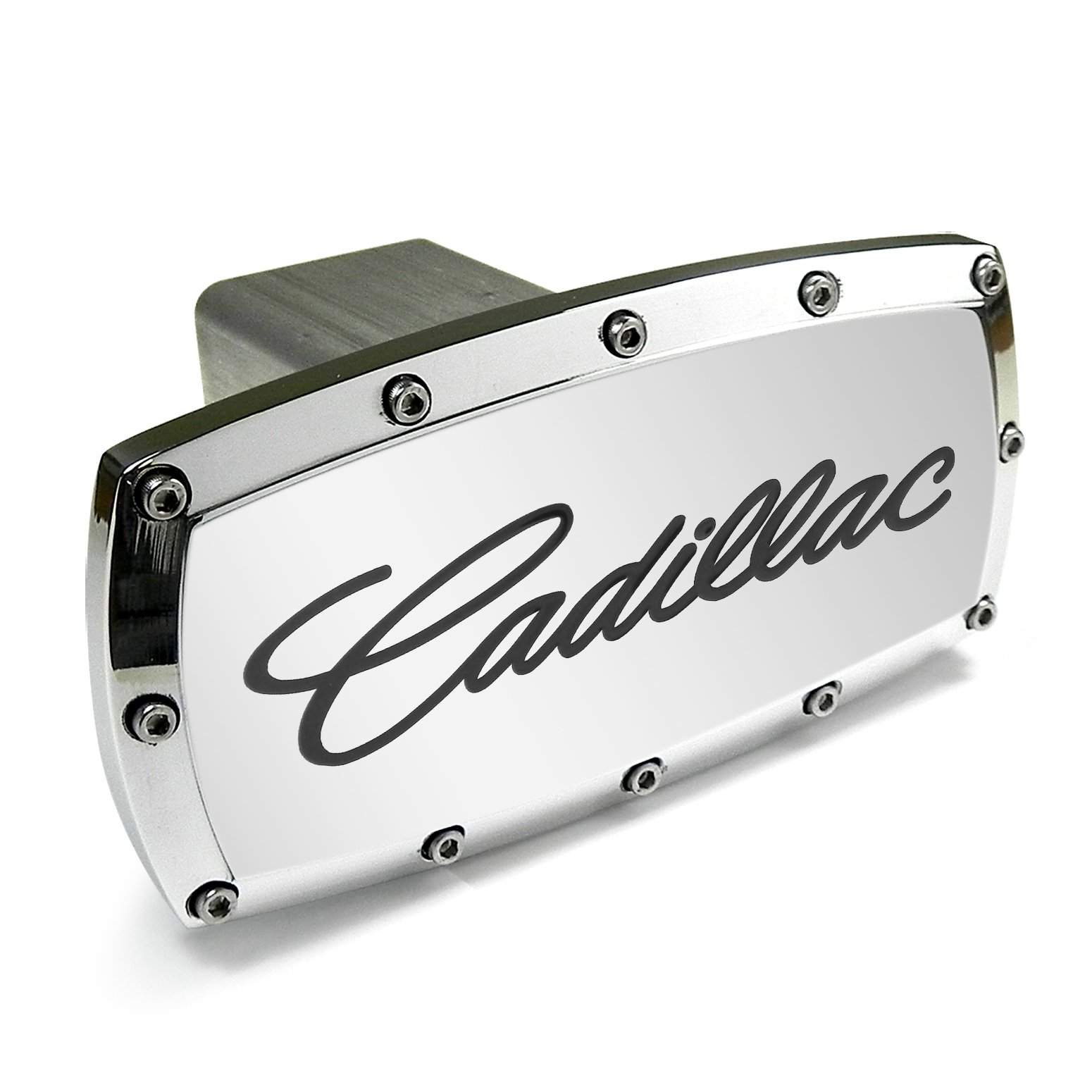 Cadillac Engraved Billet Aluminum Tow Hitch Cover by Elite Wheels & Tyres