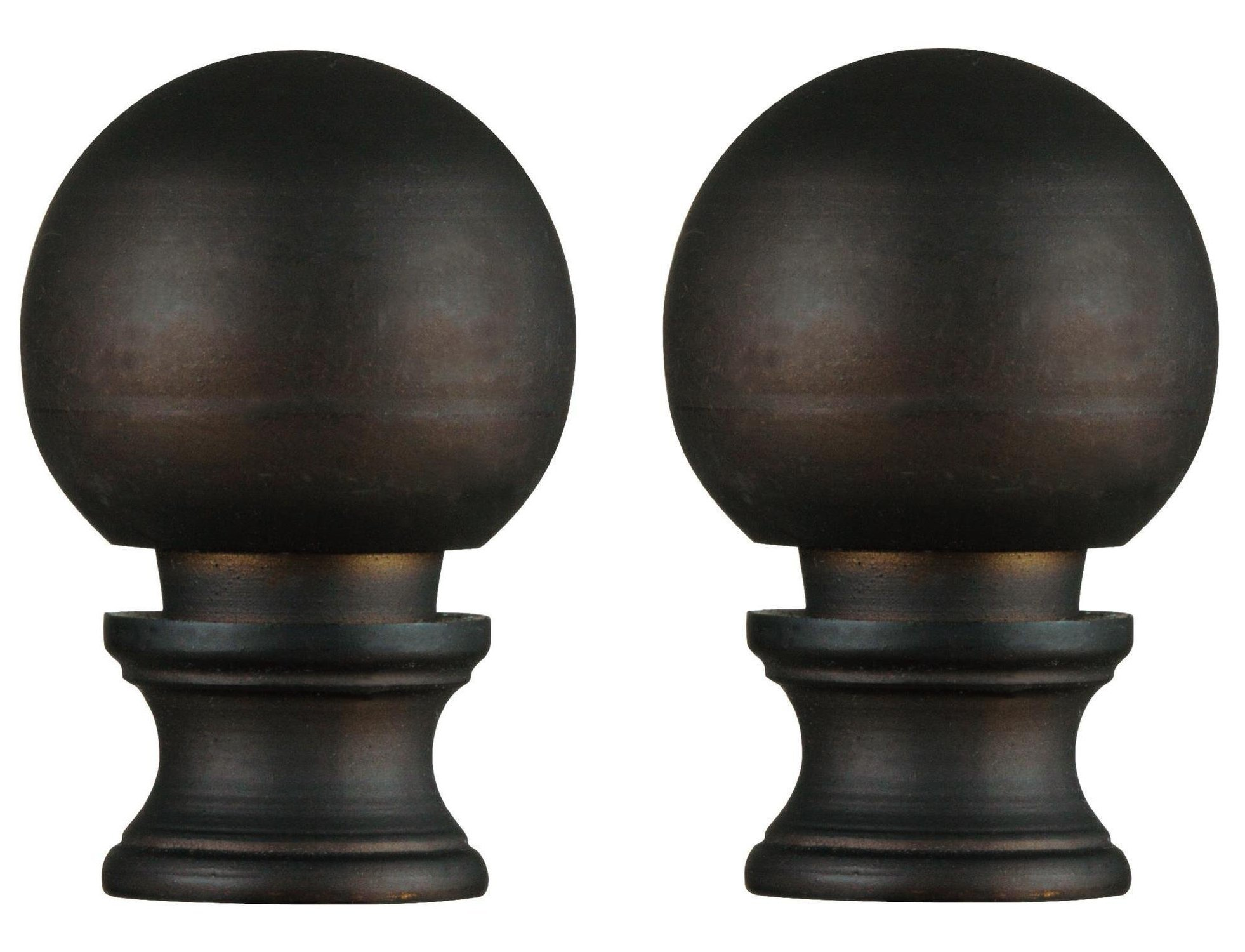 Oil Rubbed Bronze Finish Ball Lamp Finial (2-Pack)