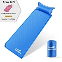 Camping Solutions Self-Inflating Sleeping Pad With Pillow - Comfortable & Compact Lightweight Moisture-proof Mat, Perfect for Camping, Hiking,Backpacking, Durable Foam Padding, Waterproof Air Mattress