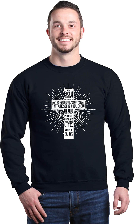 John 3:16 Hanes Unisex Crewneck Sweatshirt Details about  /I Am A Whosoever