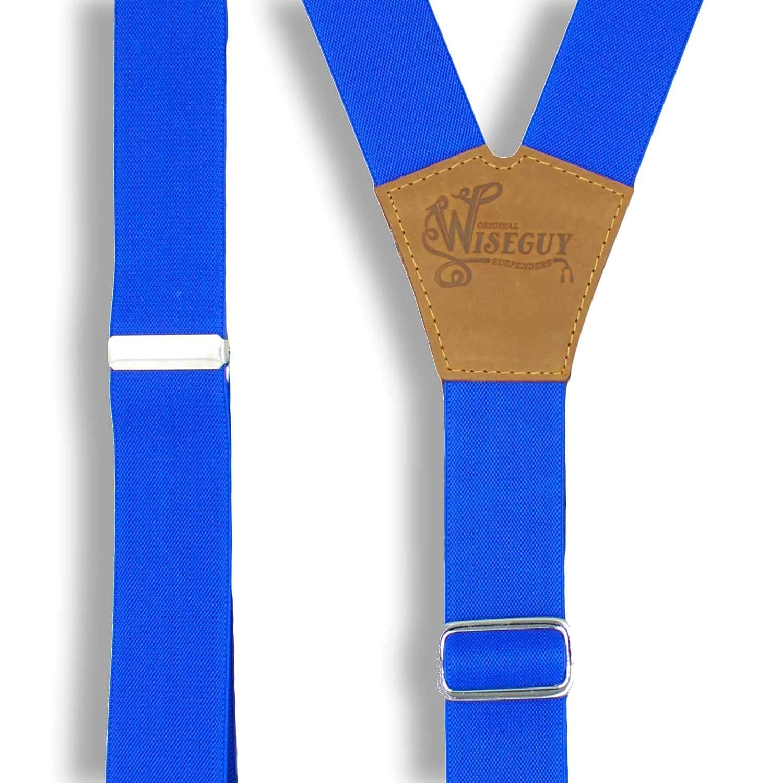 colore blu reale larghezza 3,3 cm Wiseguy Bretelle elastiche da uomo