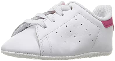 72d462cfc419 adidas Originals Girls  Stan Smith Crib Running Shoe