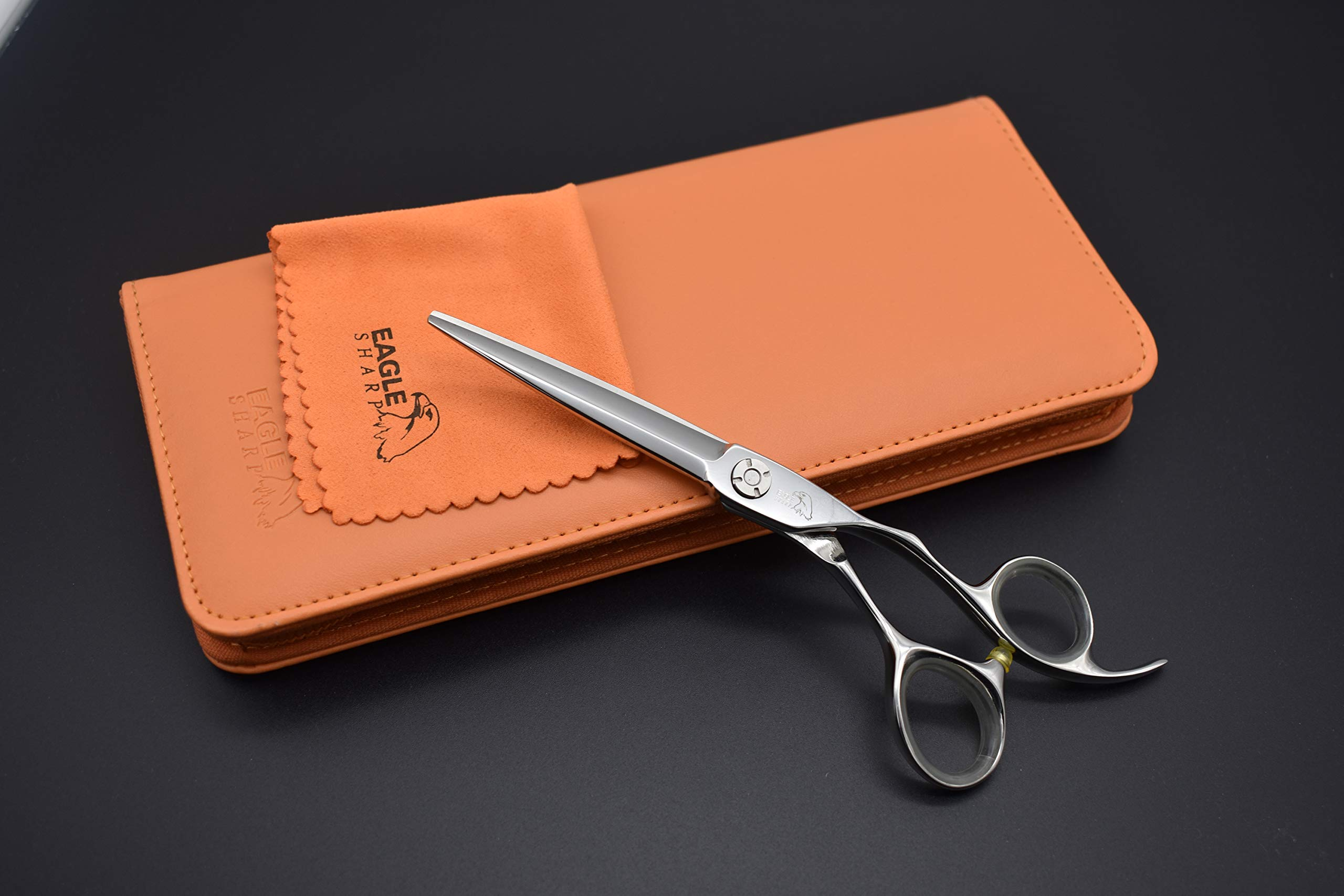 Professional Hair Scissors/Shears 6.5 inch For Barber/Hairdresser Cutting/Hairdressing Hair Convex Edge Blade Japanese Steel Shears 440c Forged (6.5'' Cutting) by EAGLE SHARP (Image #5)