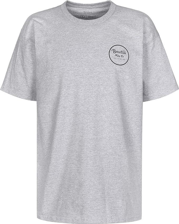 BRIXTON Wheeler II S/S Stnd tee - Camiseta Hombre: Amazon.es: Deportes y aire libre