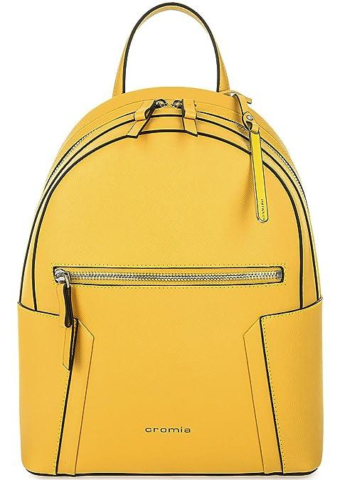 Cromia - Bolso mochila para mujer Amarillo Mango 24x31x13: Amazon.es: Zapatos y complementos