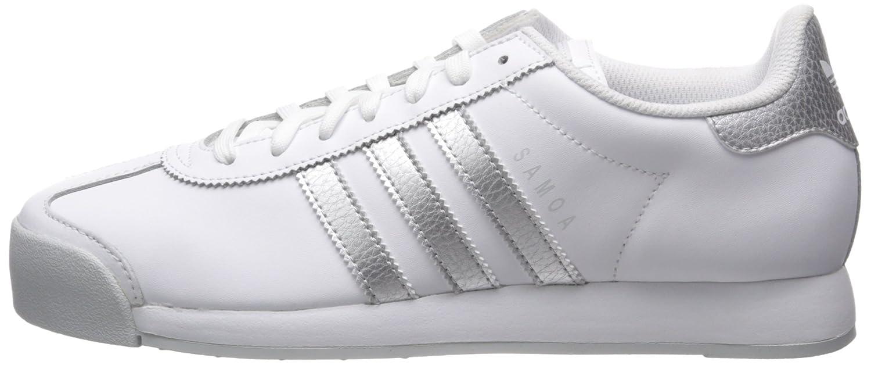 the best attitude 38336 f66fa Amazon.com   adidas Originals Men s Samoa Retro Sneaker, White Metallic  Silver Light Grey, 8.5 M US   Fashion Sneakers