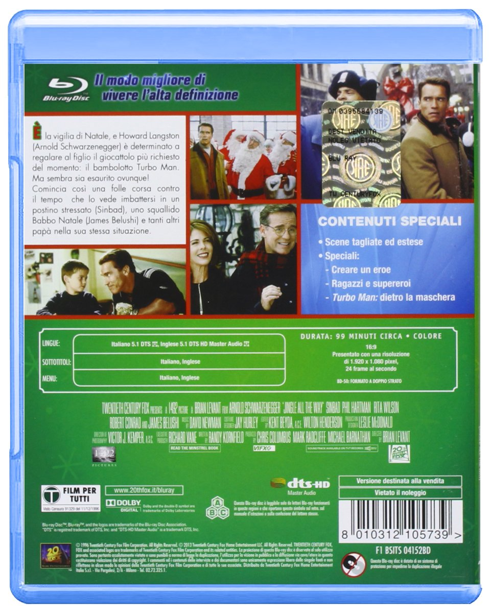 Una Promessa E Una Promessa [Italia] [Blu-ray]: Amazon.es: Sinbad, James Belushi, Robert Conrad, Richard Moll, David Newman, Arnold Schwarzenegger, ...