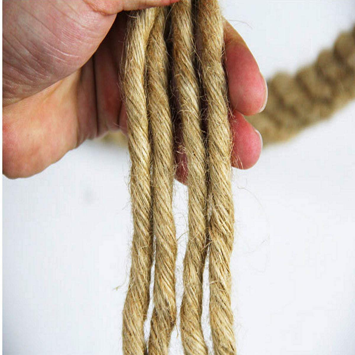 Twisted Manila Rope Jute Rope 3//4 in x 50 ft Natural Thick Hemp Rope for Crafts Hammock Home Decorating Landscaping Railings