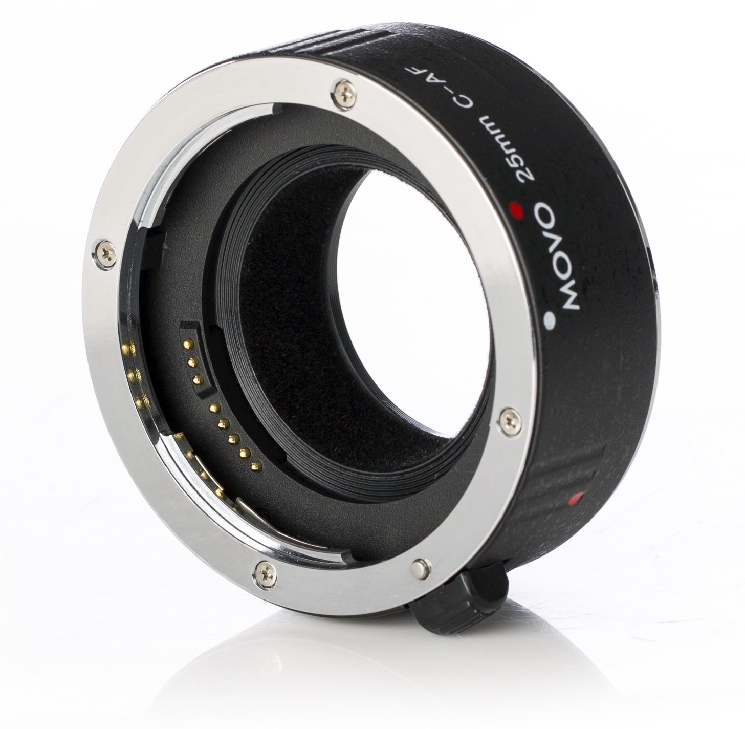 Movo MT-C25 25mm AF Chrome Macro Extension Tube for Canon EOS DSLR Camera & EF/EF-S Lenses by Movo