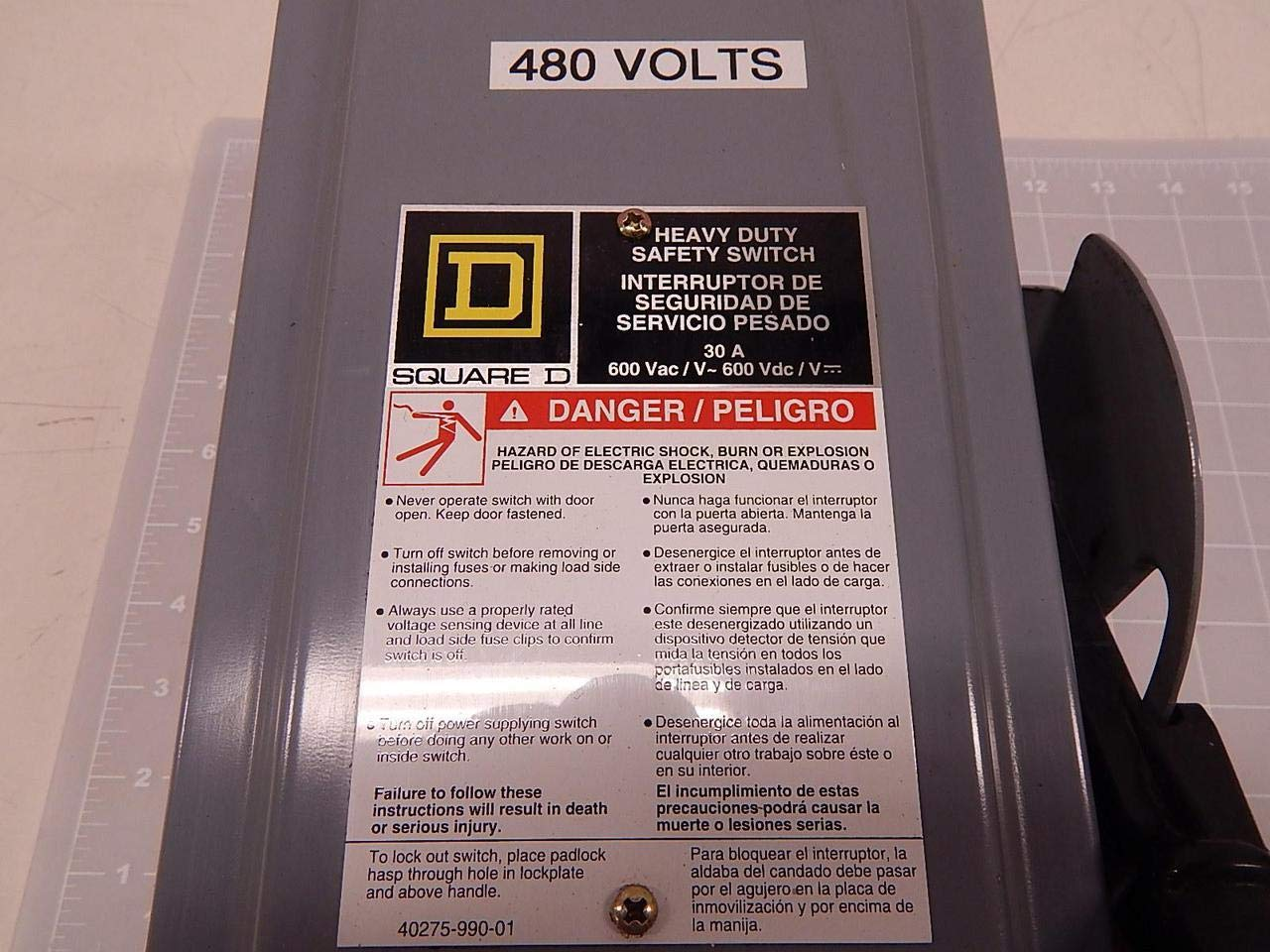 Square D HU361, 40275-990-01 Heavy Duty Safety Switch T83840: Amazon.com: Industrial & Scientific