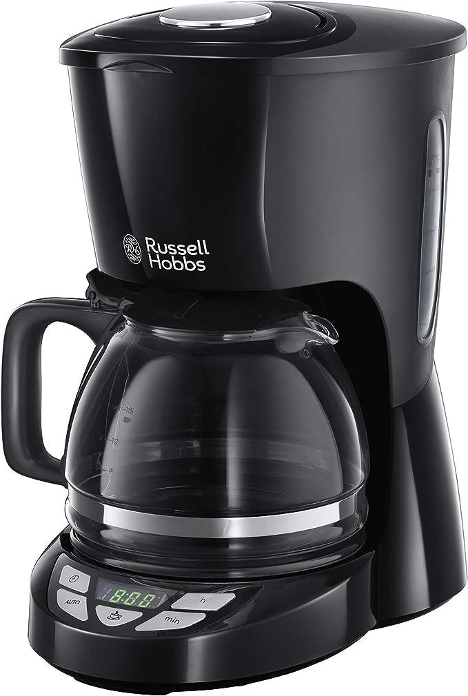 Russell Hobbs Textures Plus - Cafetera de Goteo (Jarra Cafetera, 975 W, Plástico Alta Calidad, Negro) - ref. 22620-56: Amazon.es: Hogar