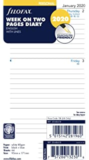Amazon.com : Filofax 2020 Personal/Compact Week on a Page ...