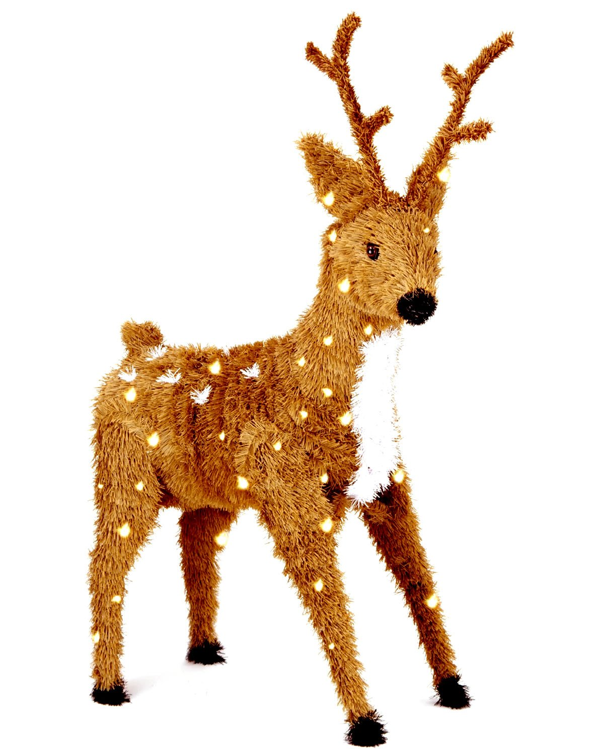 amazoncom national tree 36 inch creative images brown standing reindeer with spots and 150 clear lights ci7 dbr 36slo home kitchen