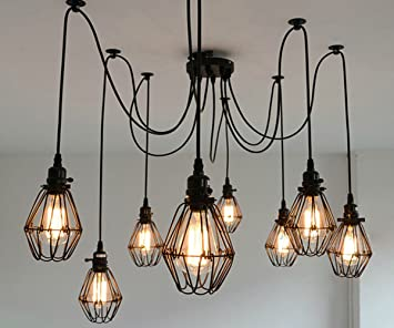 Susuo lighting multiple wire cage pendant lighting chandelier spider susuo lighting multiple wire cage pendant lighting chandelier spider lamp modern indoor ceiling lighting fixture 8 aloadofball Gallery