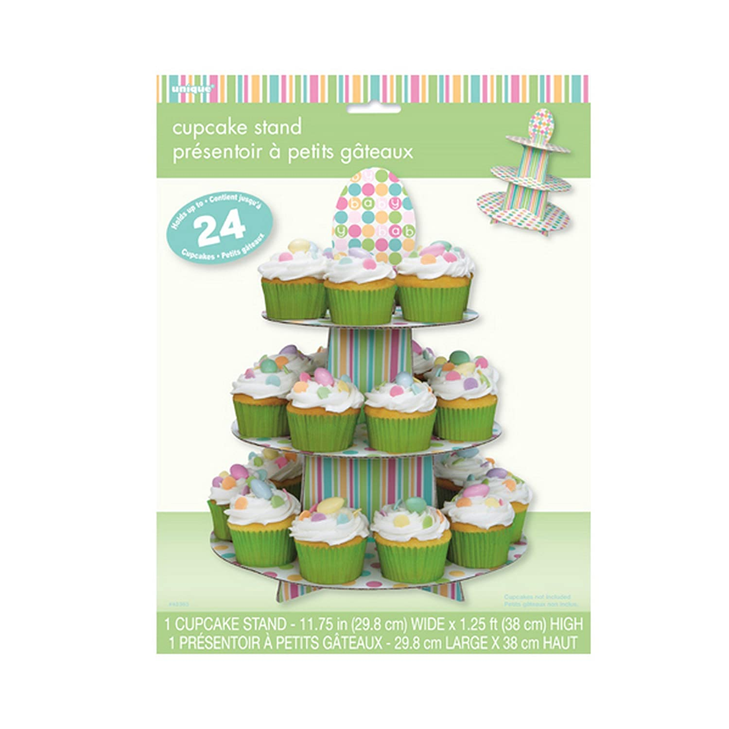 Unique Party Reusable Cardboard Cupcake Stand e Size Blue
