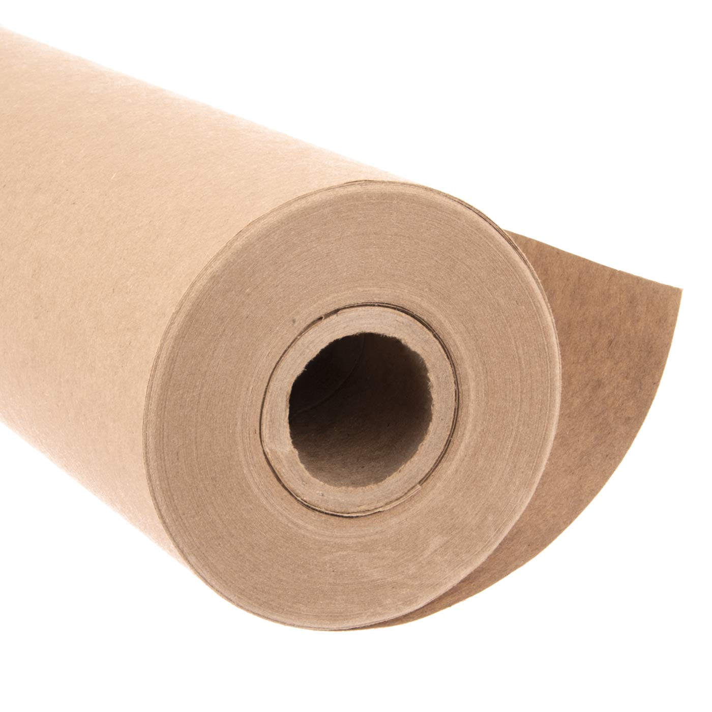 Eco Kraft Wrapping Paper Roll (Jumbo Roll) | Biodegradable Recycled Material | Made in the USA | Multi-use: Natural Wrapping Paper, Table Cover/Runner, Moving, Packing & Shipping | 30'' x 1200'' (100ft)