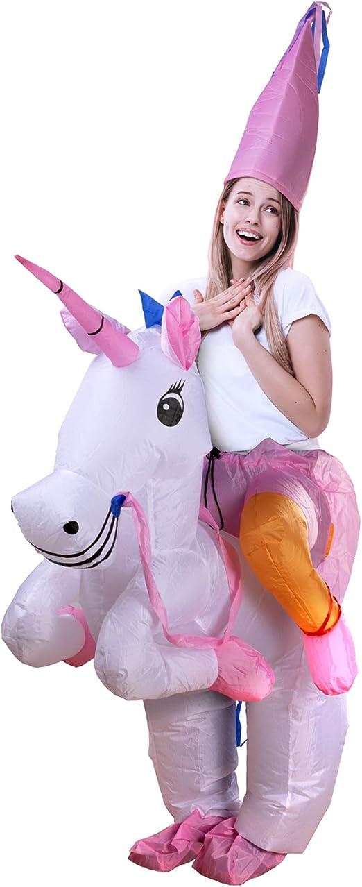 D-Mail - Disfraz Hinchable de Unicornio para Adultos: Amazon.es: Hogar