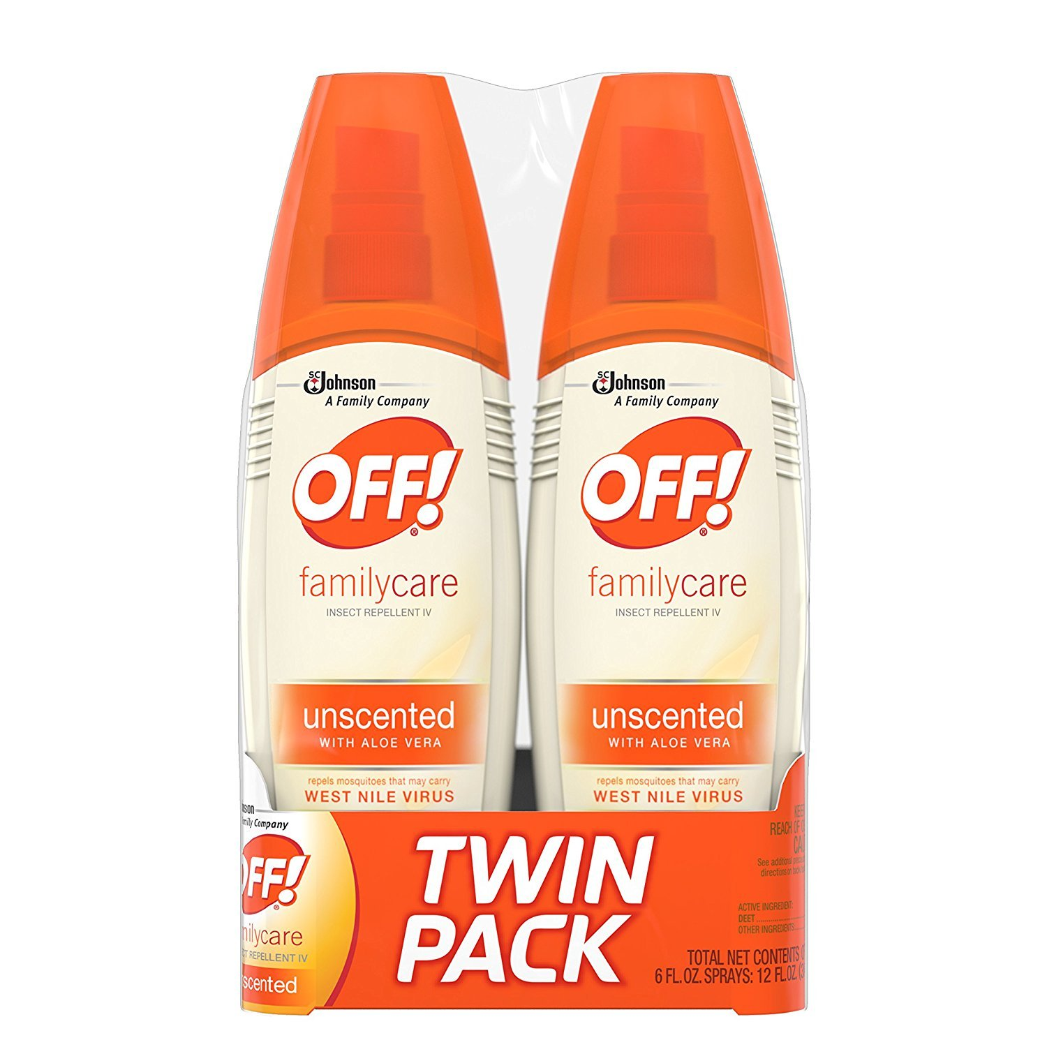 OFF! FamilyCare Insect Repellent IV Unscented, 6 oz, 6 ct