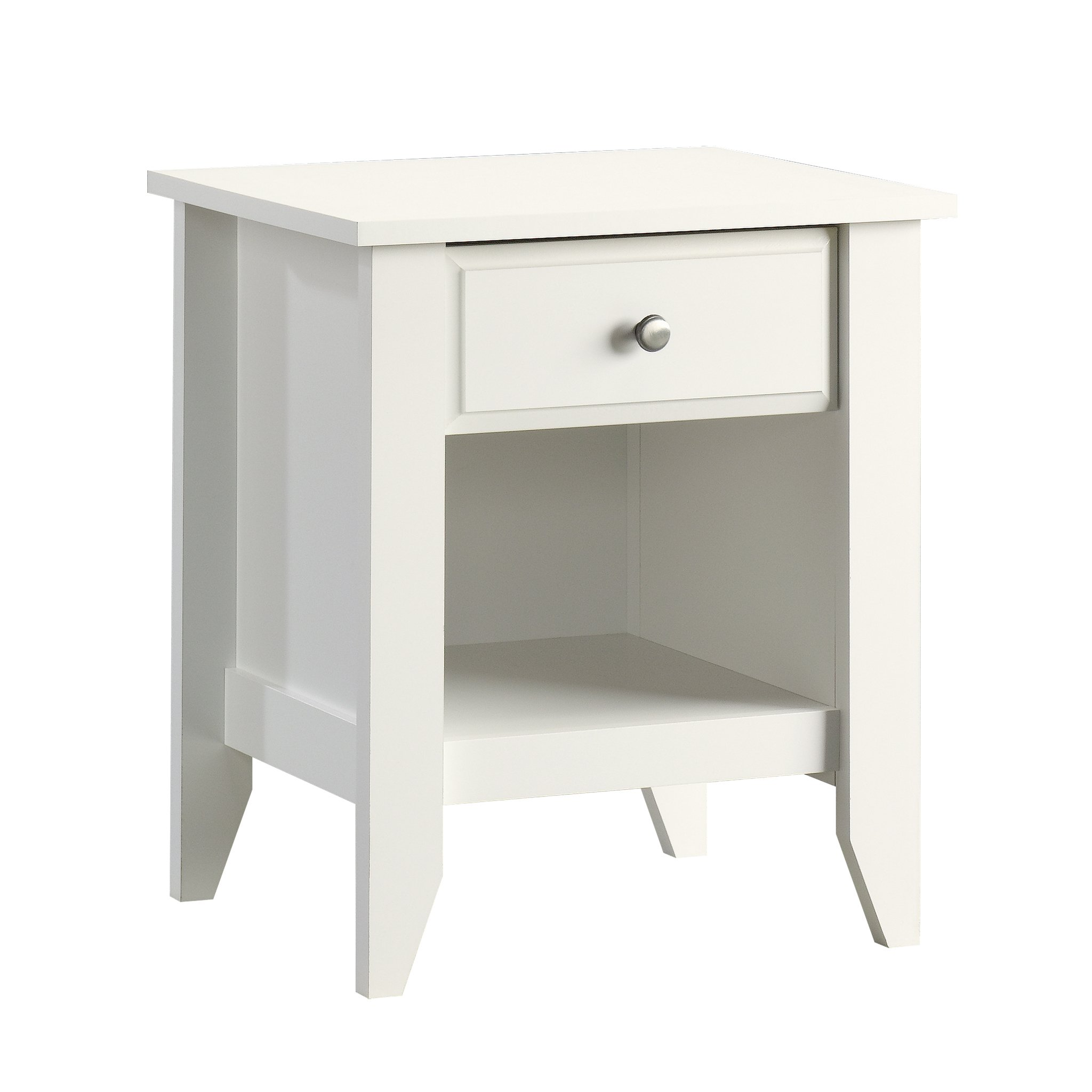 Sauder 411200 Shoal Creek Night Stand, L: 20.87'' x W: 17.48'' x H: 24.06, Soft White finish
