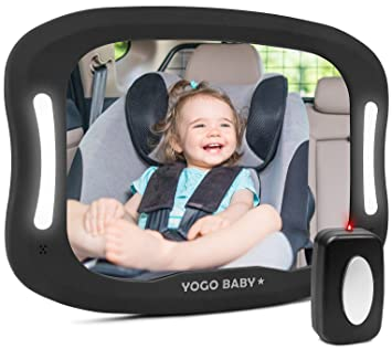 Amazon Baby Car Mirror With Remote Control Soft Led Light