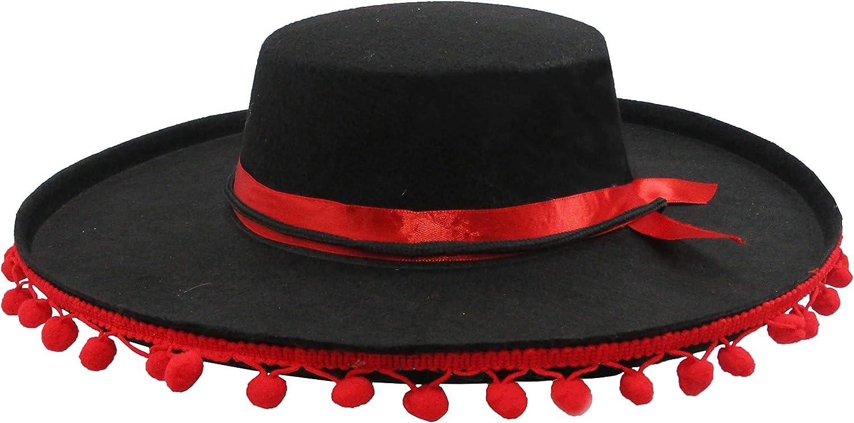 Amazon.com: Español Traje Sombrero con pompones de color ...
