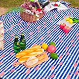 panlen Large Picnic Blanket Waterproof Machine Washable 79x57 inches Light Weight Sandproof Beach Mat Ground sheet Folding Outdoor Camping Mat