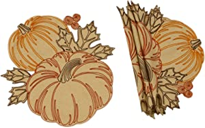 Xia Home Fashions Pumpkin Party Placemat, 16''Round, Goldenrod