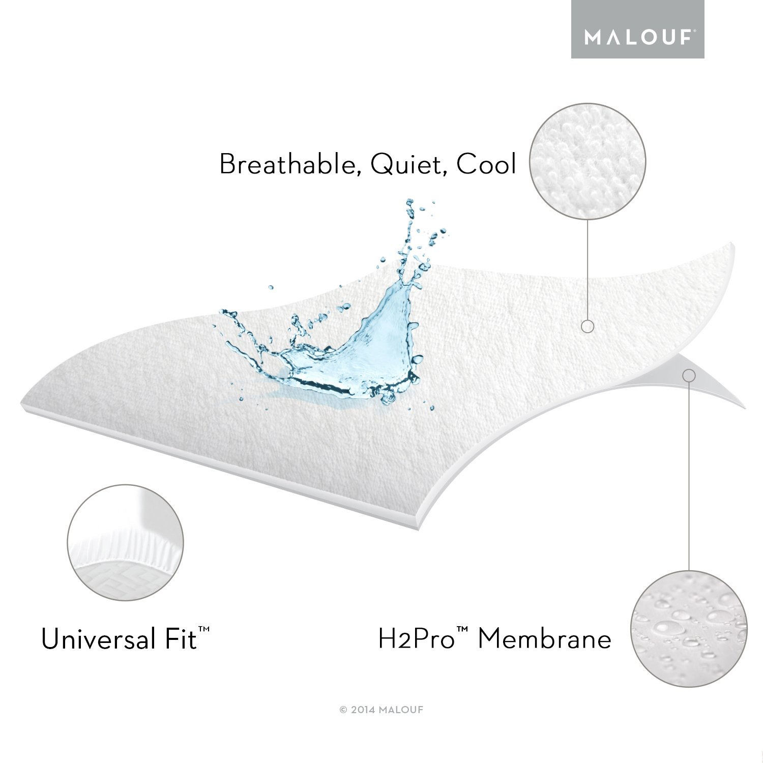 Amazon.com: Sleep Tite Hypoallergenic 100% Waterproof Mattress Protector- 15-Year Warranty - Cal King: Home & Kitchen
