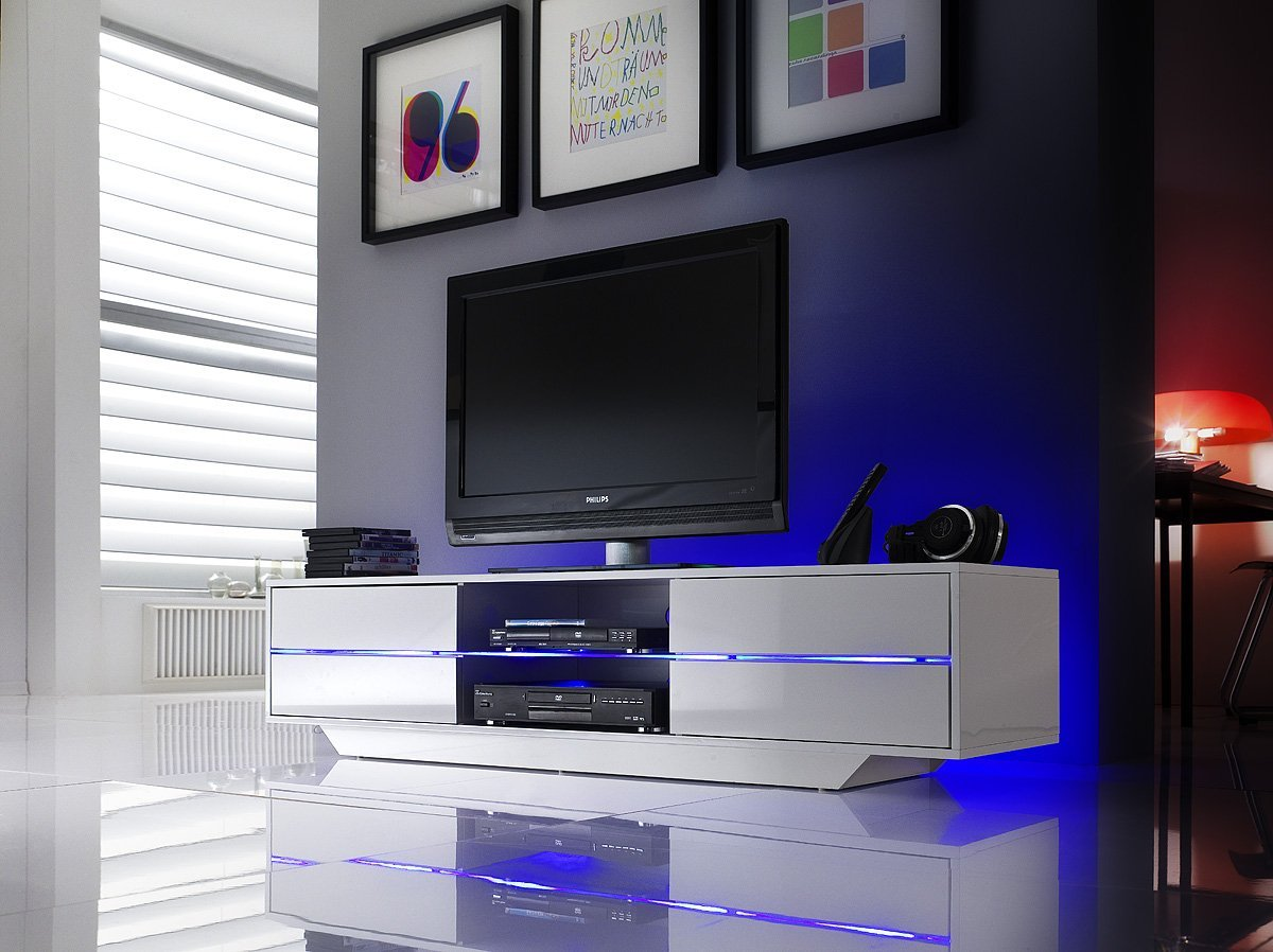 Amazon Com Blues Tv Stand Modern Tv Cabinet With Rgb Multicolor  # Meuble Tv Made In Design