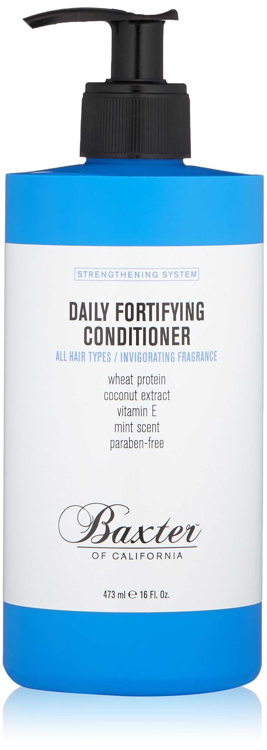 Baxter of California Daily Fortifying Conditioner for Men |  All Hair Types | Moisturizes and Detangles | Fresh Mint Scent | 16 oz.