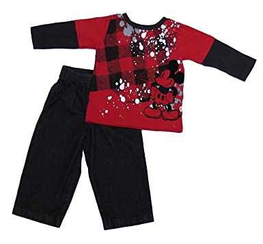 Amazon.com  Mickey Mouse Infant Boys 2pc Jeans Set (6-9Mos)  Infant ... f1836e6ea