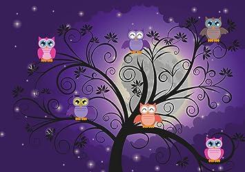 Fototapete Eulen auf einem Baum  Vliestapete Tapete