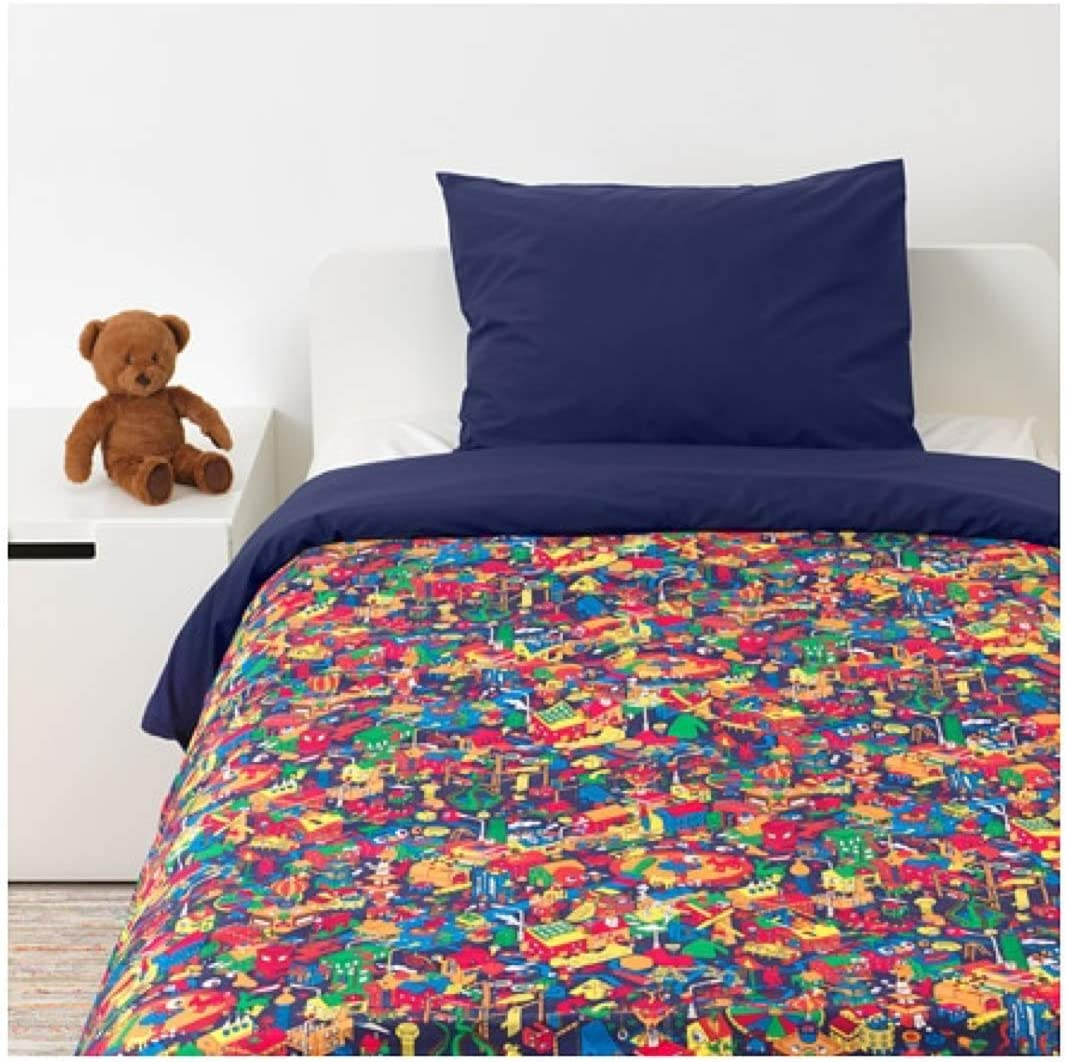 IKEA Lustigt Duvet Cover and Pillowcase Multicolor Size Twin 603.976.20