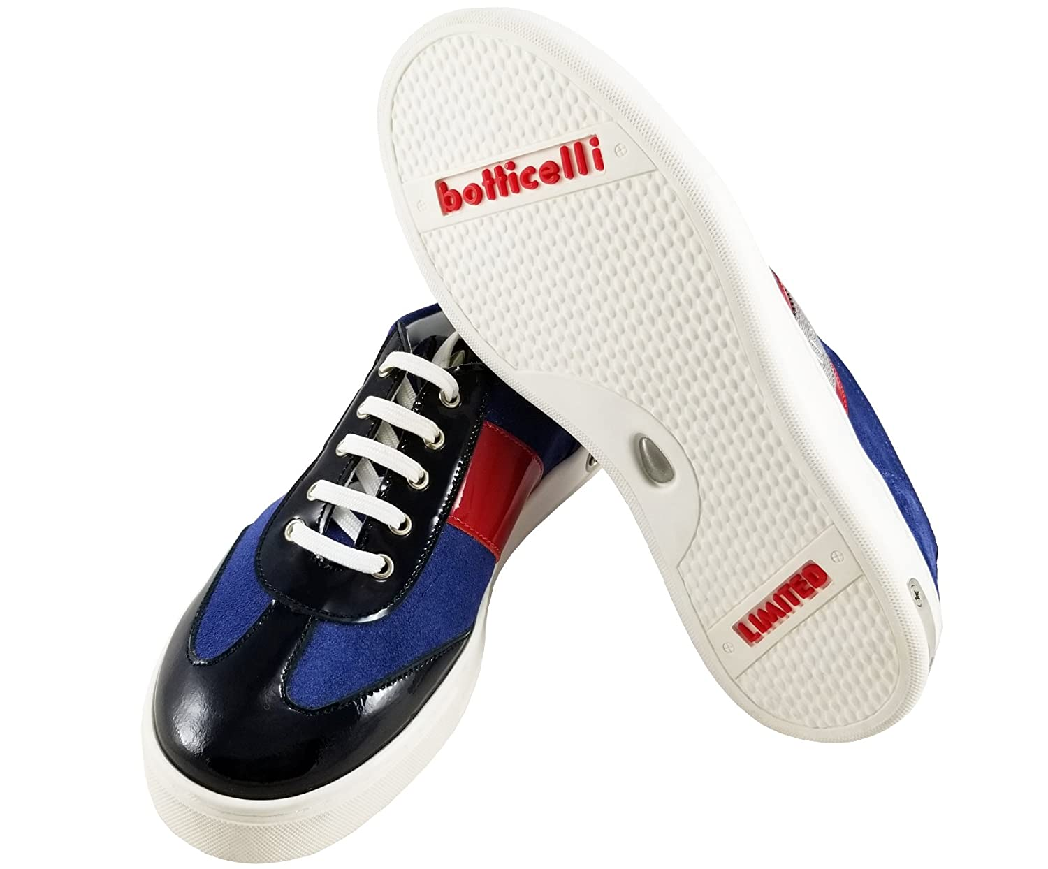 Roberto Botticelli Limited Boys Suede Leather Fashion Sneakers Lace-up Closure Shoes.Little Kids//Big Kids