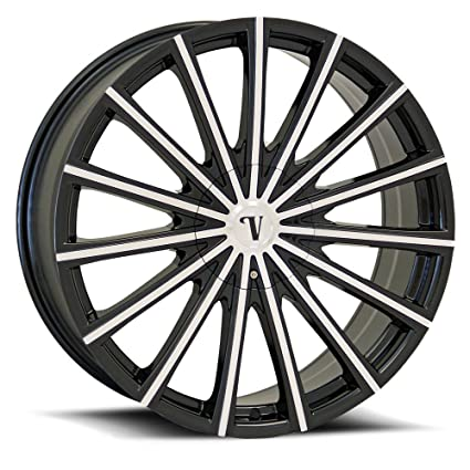 Amazon Com 22 Inch Velocity Vw10 Black Machine Wheels Tire