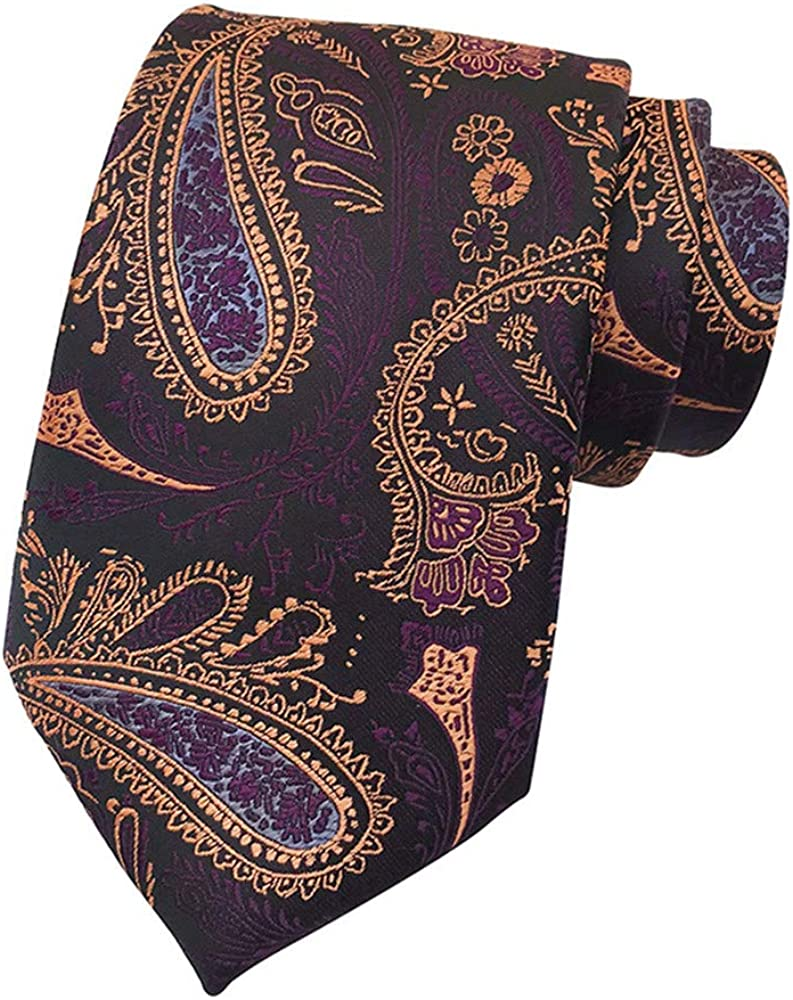 ANYIKE - Corbata de cachemira para hombre, diseño floral, ideal ...