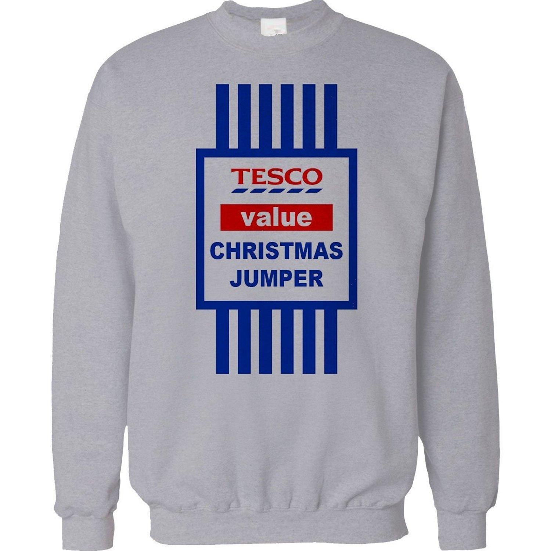 Mellor Design Christmas Jumper Sweater Mens Ladies Funny Top Tesco Value  Sweatshirt Xmas Gift Unisex